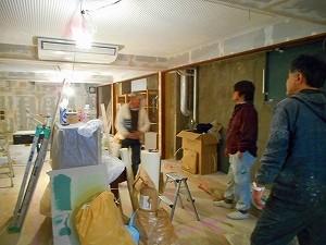 原宿のダンススタジオ工事