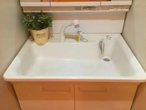 洗面台の施工